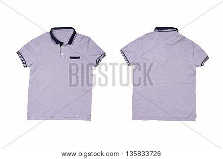 Gray casual polo shirt  isolated on white background