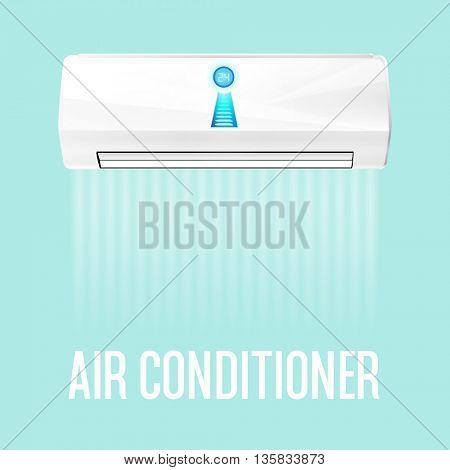 White color air conditioner machine