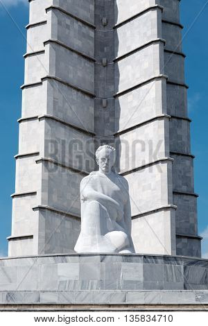 HAVANA,CUBA - JUNE 22,2016 : The Jose Marti memorial monument at the Revolution Square in Havana