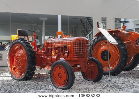 """Tractor """"dt-20"""" In The Museum Htz Tractors. City Cheboksary, Chuvash Republic, Russia. 06/"""