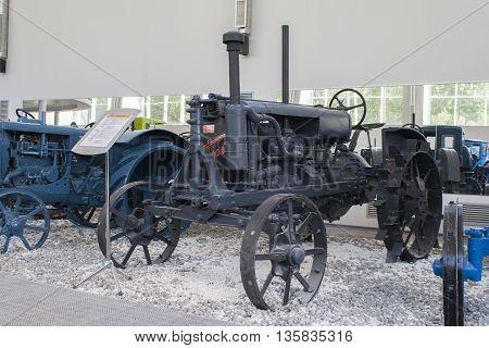 "Rare Tractor ""universal"" U-2 Museum Tractors Cheboksary, Chuvash Republic, Russia. 06/05/2"