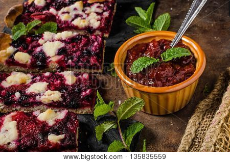 Traditional Czech Crumble With Berries
