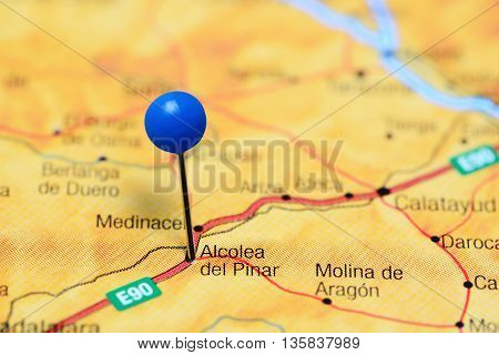 Alcolea del Pinar pinned on a map of Spain