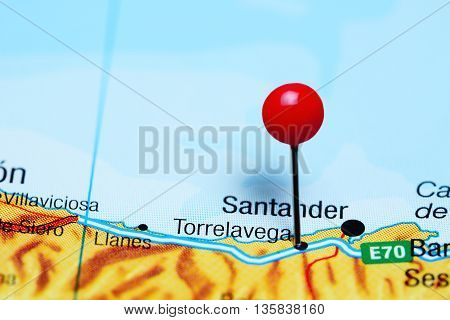 Torrelavega pinned on a map of Spain