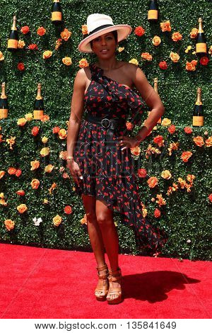 JERSEY CITY, NJ - MAY 30: TV personality Tamron Hall attends the 8th Annual Veuve Clicquot Polo Classic at Liberty State Park on May 30, 2015 in Jersey  City, New Jersey.