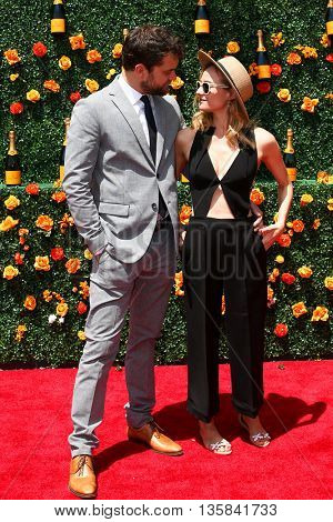 JERSEY CITY, NJ - MAY 30: Actors Joshua Jackson (L) and Diane Kruger attend the 8th Annual Veuve Clicquot Polo Classic at Liberty State Park on May 30, 2015 in Jersey  City, New Jersey.
