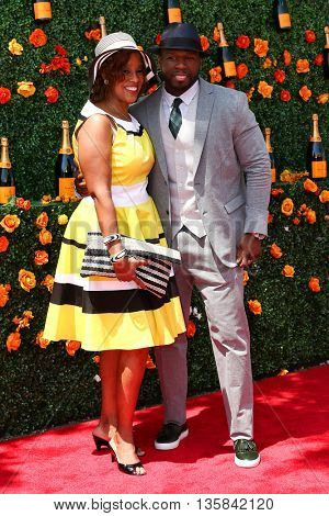 JERSEY CITY, NJ - MAY 30: TV personality Gayle King (L) and Curtis Jackson aka 50 Cent attend the Annual Veuve Clicquot Polo Classic at Liberty State Park on May 30, 2015 in Jersey  City, New Jersey.