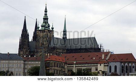 Veitsdome And Castle Of Prague