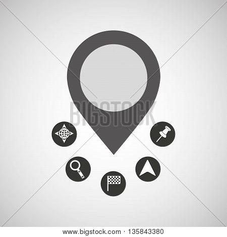 gps service design, vector illustration eps10 graphic