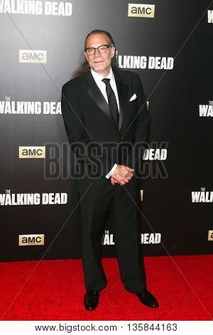 NEW YORK-OCT 9: Creator Greg Nicotero attends AMC's 'The Walking Dead' season six premiere at Madison Square Garden on October 9, 2015 in New York City.