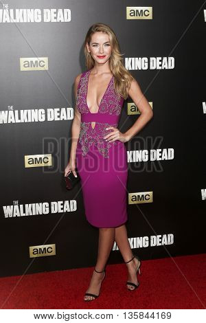 NEW YORK-OCT 9: Miss USA 2015 Olivia Jordan attends AMC's 'The Walking Dead' season six premiere at Madison Square Garden on October 9, 2015 in New York City.