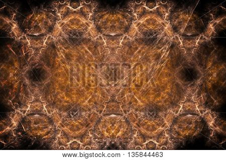 Colorful glowing pattern orange dark vignette, abstract art for background