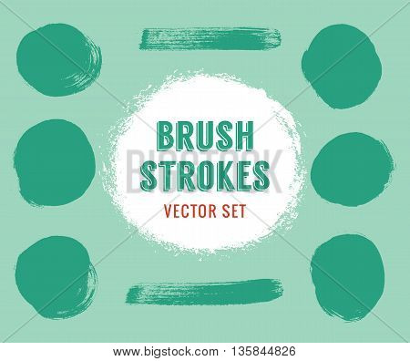 Set of vector brush strokes. Colour is editable. Eps10