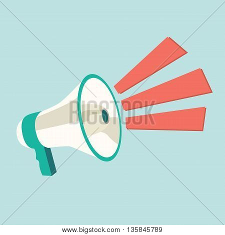 Megaphone speech templates for text. Vector illustration
