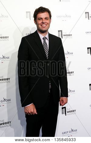 NEW YORK, NY - MAY 18: President of Webby Media Group David-Michel Davies attends the 19th Annual Webby Awards at Cipriani Wall Street on May 18, 2015 in New York City.