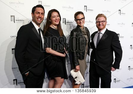 NEW YORK, NY - MAY 18: Eric Sedransk of StumbleUpon (L) and guests attend the 19th Annual Webby Awards at Cipriani Wall Street on May 18, 2015 in New York City.