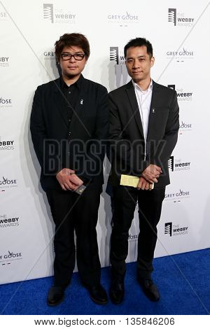 NEW YORK, NY - MAY 18: Activation Group's Welson Tu (L) and Winton Choi attend the 19th Annual Webby Awards at Cipriani Wall Street on May 18, 2015 in New York City.
