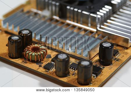 Circuit board of computer components electronical device