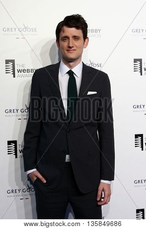 NEW YORK, NY - MAY 18: Actor Zach Woods attends the 19th Annual Webby Awards at Cipriani Wall Street on May 18, 2015 in New York City.