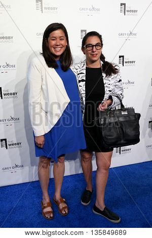 NEW YORK, NY - MAY 18: Naomi Hirabayashi and CEO of DoSomething.org Nancy Lublin attend the 19th Annual Webby Awards at Cipriani Wall Street on May 18, 2015 in New York City.
