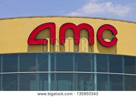 Indianapolis - Circa June 2016: AMC Movie Theater Location. AMC Theaters is an American Movie Theater Chain III