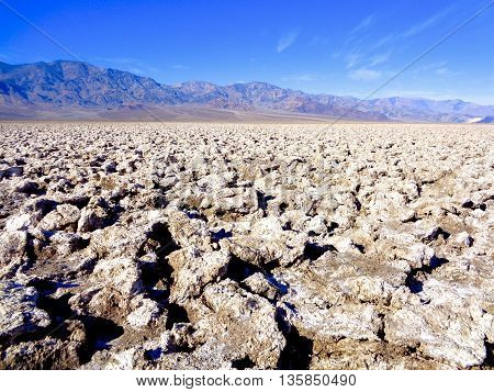 Arid landscape in Death Valley National Park