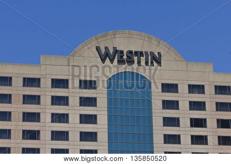 Indianapolis - Circa June 2016: Downtown Indianapolis Westin Property. Westin is Part of the Starwood Hotel Group I