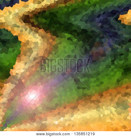 Abstract coloring background of the pastels gradient, with visual wave,shear and crystallize effects