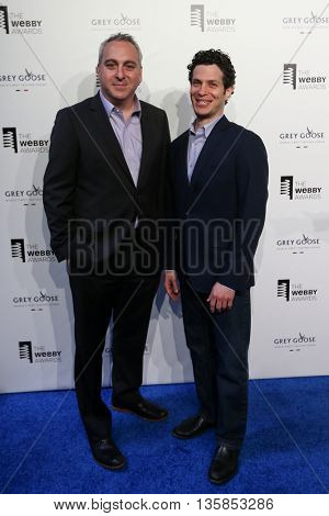 NEW YORK, NY - MAY 18: Andrew Freed (L) and Thomas Kale attend the 19th Annual Webby Awards at Cipriani Wall Street on May 18, 2015 in New York City.