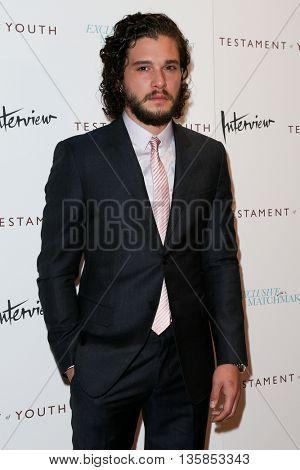 NEW YORK, NY-JUNE 2: Actor Kit Harington attends the