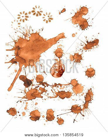 Coffee Paint Stains, Splashes