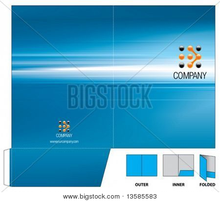 Corporate folder with die cut.