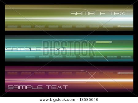 Abstract vector web banner