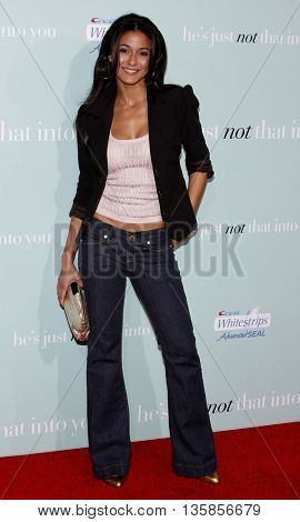 Emmanuelle Chiriqui at the World premiere of 'He's Just Not That Into You' held at the Grauman's Chinese Theater in Hollywood, USA on February 2, 2009.