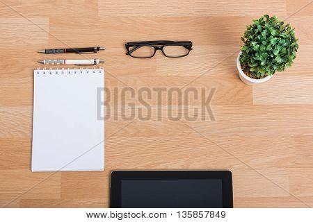 Top View Blank Digital Tablet