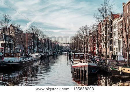 Buildings And Streets In Amsterdam, Netherlands