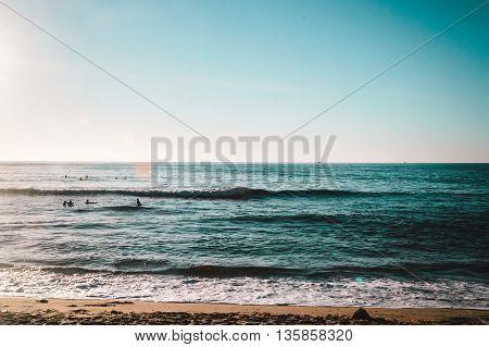 Waves At Sunset Cliffs Beach, San Diego, California