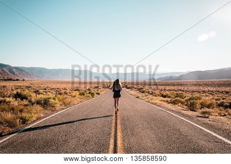 Girl In The Middle Of Route 66