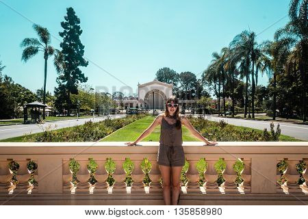 Girl At Balboa Park In San Diego