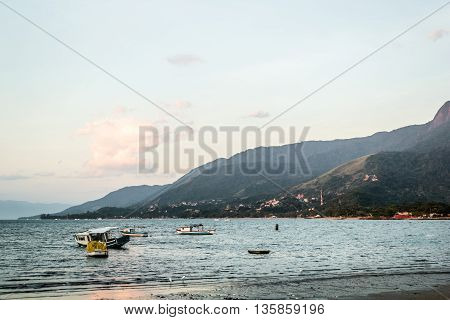 Boats And Mountains At Beautiful Island (ilhabela) In San Paulo (são Paulo), Brazil (brasil)