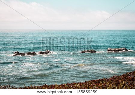 Oceanview From California Coast, United States