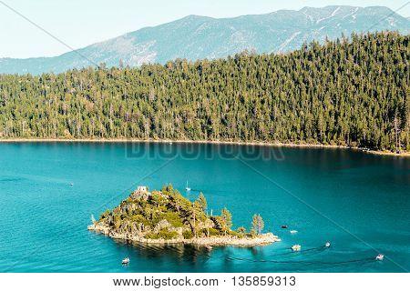 Haunted Island At Emerald Bay And Lake Tahoe