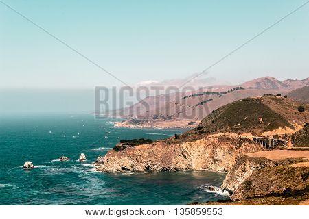Bixby Bridge In California Coast