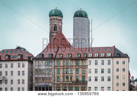 Munich Buildings And Houses, Germany