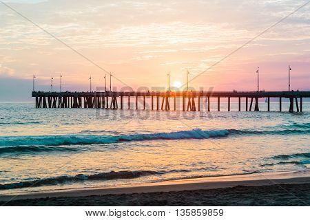 Photo of Sunset at Venice Beach, California