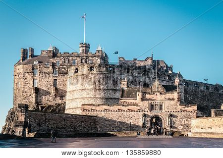 Photo of Frontal view of Edinburgh Castle in Scotland