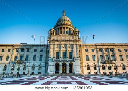 The Rhode Island State House, In Providence, Rhode Island.