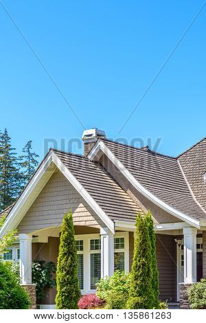 The roof of the house or apartment building.