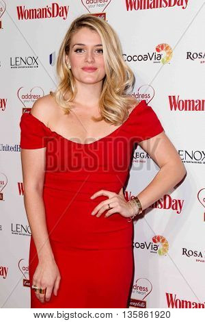 NEW YORK-FEB 10, 2015: TV personality Daphne Oz attends the 12th Annual Woman's Day Red Dress Awards at Jazz at Lincoln Center on February 10, 2015 in New York City.