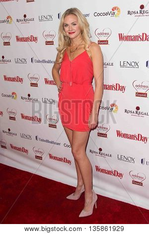 NEW YORK-FEB 10, 2015: Actress Laura Bell Bundy attends the 12th Annual Woman's Day Red Dress Awards at Jazz at Lincoln Center on February 10, 2015 in New York City.